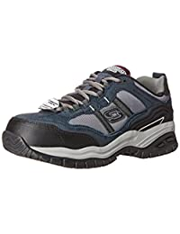 Skechers for Work Men's Soft Stride Grinnel Slip Resistant Steel Toe Shoe
