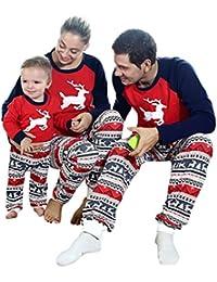 Christmas Family Pajamas Set Kids Mom Dad Deer Matching Outfits Clothes