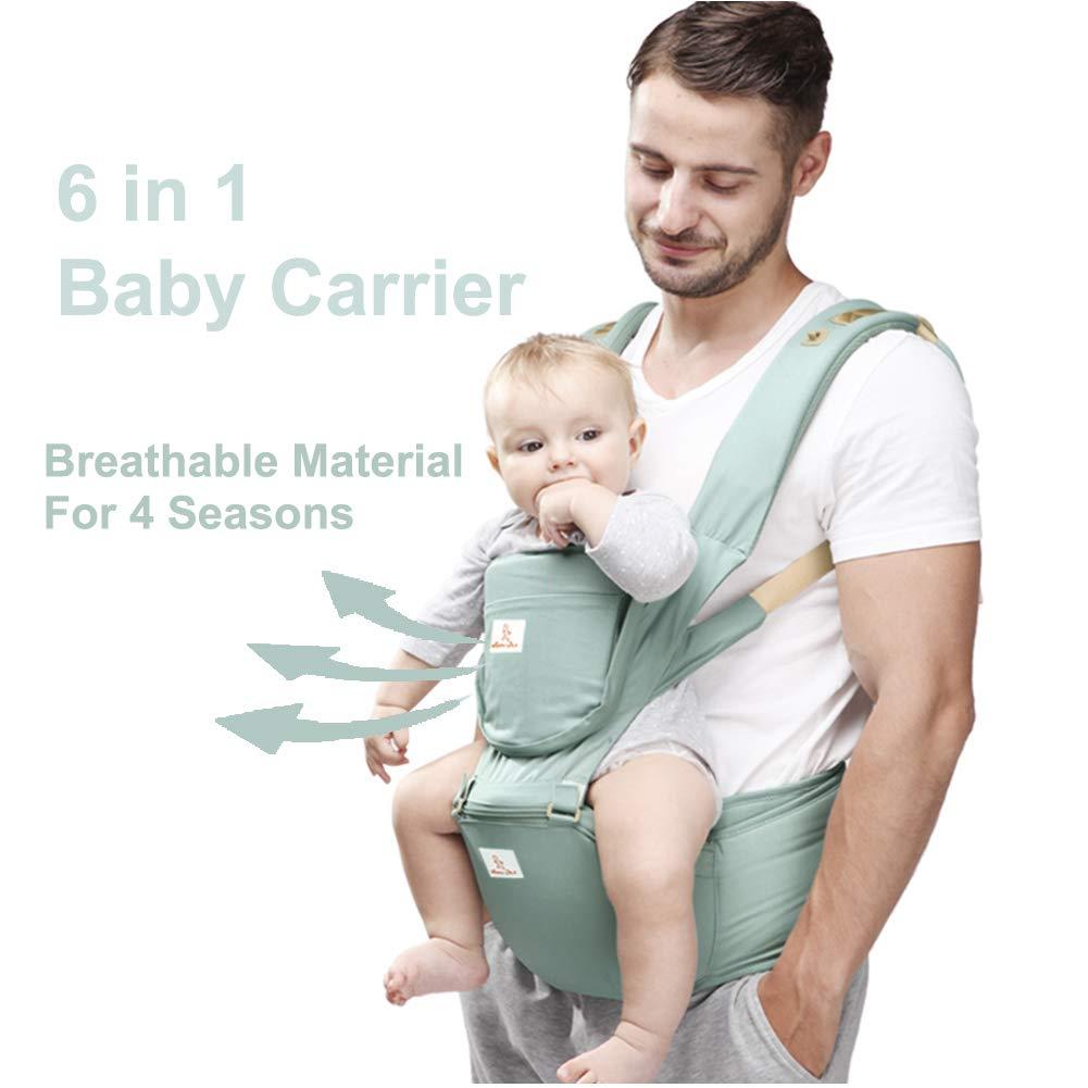 Happy Walk 6 en 1 Convertible Baby Carrier Portabebes con Asiento de Cadera / Mochilas Portabebés