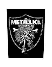 Metallica Backpatch Raider Skull Official New Black Cotton Sew On 36cm x 29cm