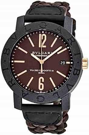 Bvlgari Bvlgari Automatic Brown Dial Brown Leather Men's Watch 102633