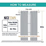 NICETOWN High End Thermal Curtains, Full Blackout