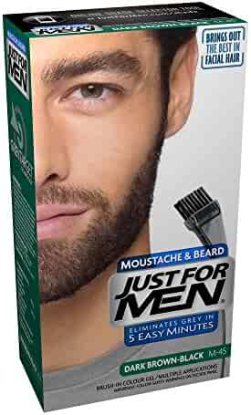 Just For Men Mustache and Beard Brush-In Color Gel, Dark Brown (Pack of 3)