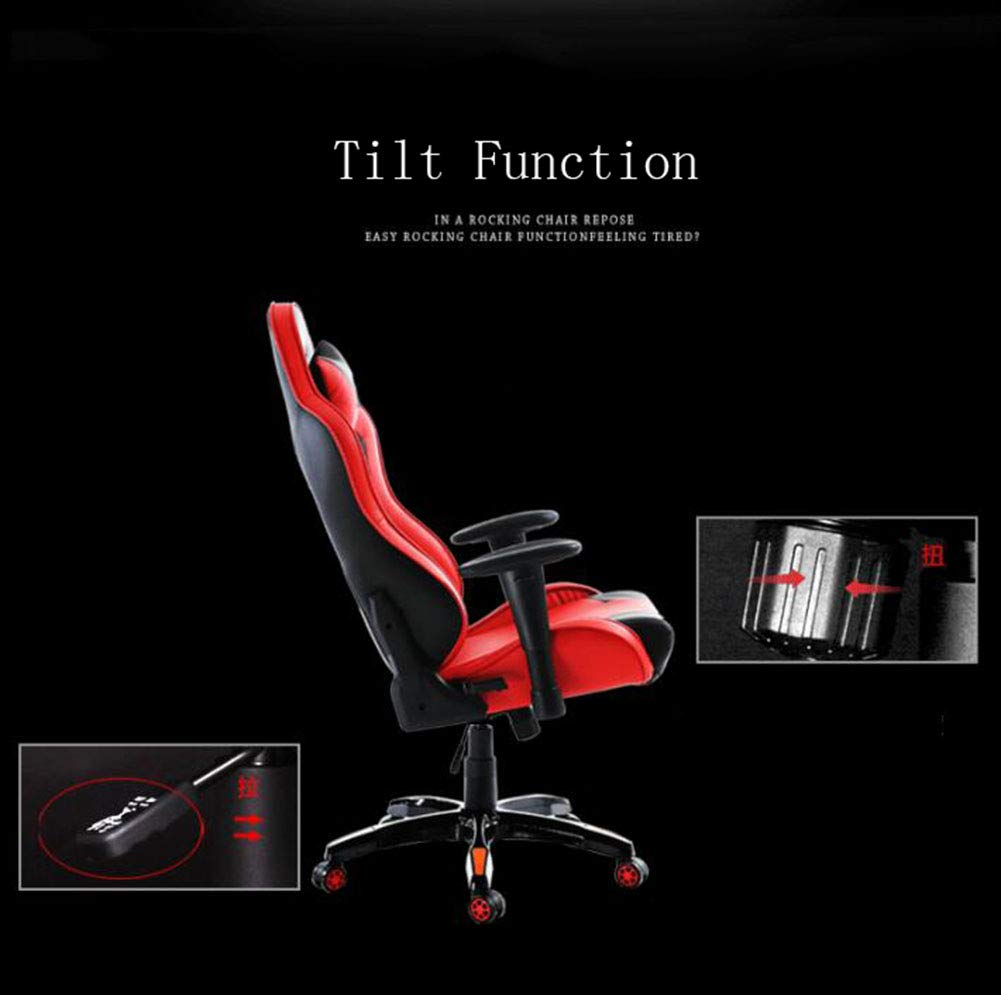 XUE ESports Bar Bar Bar Game Chair, Lift Reclining Computer Chair Home Net Coffee Study Chair High Back Large Seat Gaming Chair 360 Degree Swivel Adjustable Seat Height Ergonomic Concept 92d584