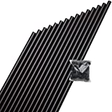 DeckoRail 3/4 in. x 26 in. Black Aluminum Round