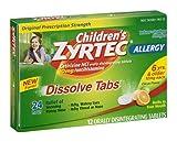 Children's Zyrtec 24 hour Allergy Relief 10mg -12
