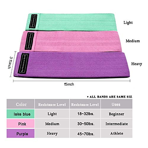 Exercise Resistance Bands for Legs and Hip Non-Slip Fitness Resistance Bands are Suitable for Gyms and Homes