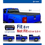 Tyger Auto TG-BC3C1005 TRI-FOLD Truck Bed Tonneau Cover 2007-2013 Chevy Silverado/GMC Sierra 1500; 2007-2014 Silverado/Sierra 2500 3500 HD | Excl. 07 Classic | Fleetside 8' Bed | w/o Utility Track