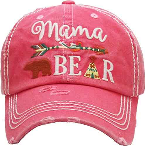 17a5acde1bc Funky Junque Womens Baseball Cap Distressed Vintage Unconstructed  Embroidered Dad Hat