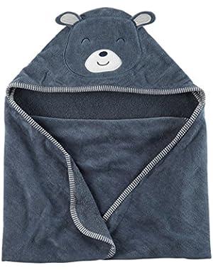 Carter's Baby Boys' Bear Hooded Towel, Blue