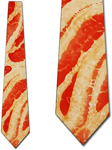 Bacon Tie Mens Meat Neckties by Three Rooker