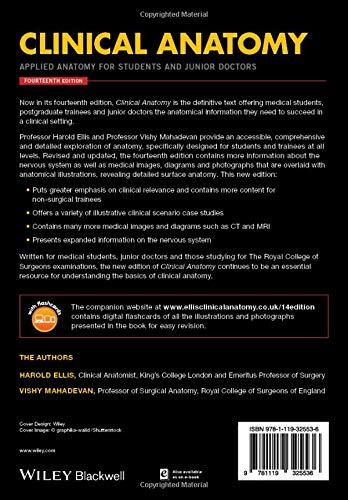 Clinical Anatomy Applied Anatomy For Students And Junior Doctors Amazon Co Uk Ellis Harold Mahadevan Vishy Books