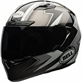 Bell Qualifier DLX Full Face Motorcycle Helmet (Electric Black/Silver, Large) (Non-Current Graphic)