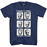 Marvel Little Groot Today I Feel I Am Groot Guardians of The Galaxy Men's Adult Graphic Tee T-Shirt (Navy Heather, X-Large)