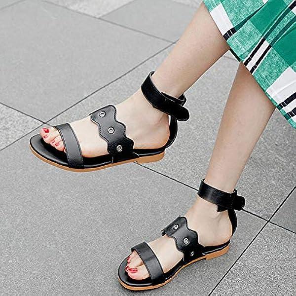 Damen Summer Beach Sandalen Damen Casual Peep Toe Flache Schuhe Anti-Rutsch