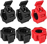 Chef Vinny Barbell Clamps, Quick Release Pair of Locking Professional Olympic Weight Barbell Locks Collar Clip