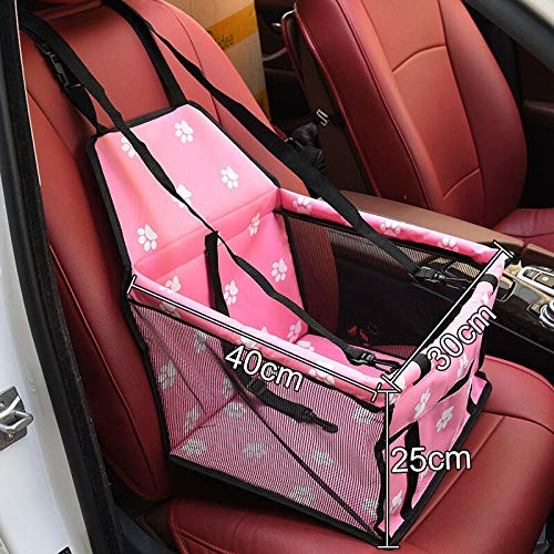 Pink 400x300x250mm Aigou Dog Bed Pet Car Booster Seat Front Seat Cover For Dog Cat, Portable 2In1 Dog Seat Predection NonSlip Waterproof With Safety Belt