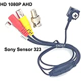 CNDST CCTV 1080P HD AHD Mini Spy Pinhole Security Camera for CCTV AHD 1080P DVR System, Sony Sensor 3.6mm 90degree 2000Tvl 2MP Mini Hidden CCTV Surveillance Camera