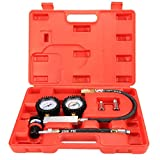 Cylinder Tester - SODIAL(R) Cylinder Tester Detector Engine Compression Leak-down Test Gauges Set & Red Case