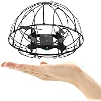 RC Drone with 0.3M Camera Foldable Quadcopter Toy Mini Helicopter with Ball Propeller Gift for Kid Beginner
