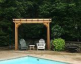 Creekvine Designs Cedar New Dawn Pergola Size: 3' x 10', Finish: No Finish
