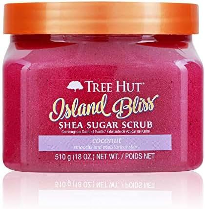 Tree Hut Shea Sugar Scrub Island Bliss, 18oz, Ultra Hydrating & Exfoliating Scrub for Nourishing Essential Body Care