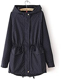 Ivan Johns Warm Coats Winter Women Cute Polka Dots Hooded Trench Abrigos Chaquetas Fashion Plus Size