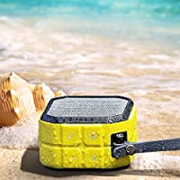 CRDCsmart Bluetooth Speakers Wireless Portable Rechargeable 800mAh Battery Play For 6 Hour Single Channel 5W Sport Speaker Waterproof IP65 Dustproof Shockproof Music Phone Speaker Outdoors (yellow)