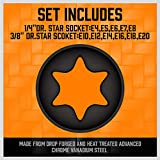 HORUSDY 11 Pc Female E Torx Star Socket