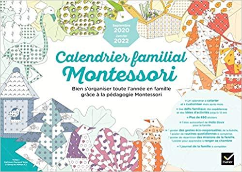 Calendrier familial Montessori septembre 2020 à janvier 2022 (Vie