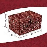 Wicker Picnic Basket Set | 4 Person Deluxe