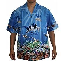 Men's Pacific Sea Turtles Hawaiian Aloha Shirt
