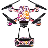 Skin for DJI Spark Mini Drone Combo - Swirly Girly| MightySkins Protective, Durable, and Unique Vinyl Decal wrap cover | Easy To Apply, Remove, and Change Styles | Made in the USA