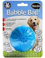 Pet Qwerks Talking Babble Ball Dog Toy, Large, Blue