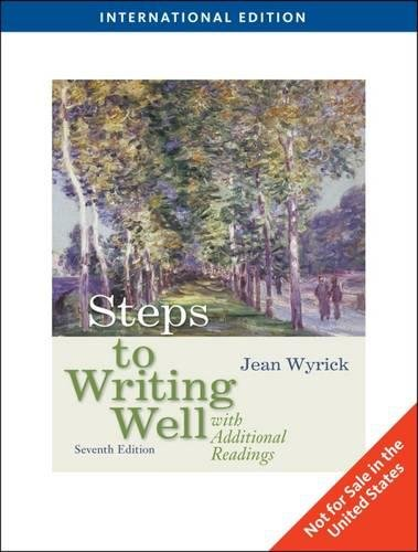 Steps to Writing Well with Additional Readings, International ...
