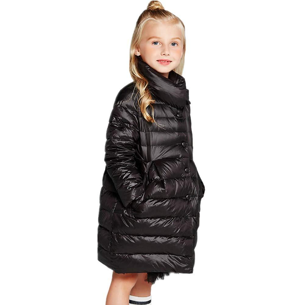 noir 120cm RSTJ-Sjc Manteau en Duvet pour Enfant avec col Montant, Filles, vêteHommests Chauds et Coupe-Vent, Parfaits pour l'hiver