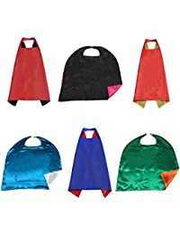 Double-side Dress Up Superhero Cape Costumes For Adult, Set of 6