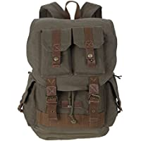 Koolertron Canvas DSLR SLR Camera Shoulder Bag Backpack Rucksack Bag With Waterproof Cover For Sony Canon Nikon Olympus