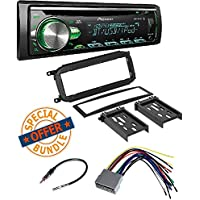 CD Receiver MIXTRAX, Built-in Bluetooth, and Color Customization W/ Single DIN Installation Kit for Select 1998-2004 Chrysler/Dodge/Jeep Vehicles