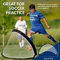 Soccer Goal Set of 2 - Abiprod Soccer Goal Nets with...
