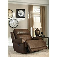 Ashley Furniture Signature Design Austere Power Oversized Recliner - Brown