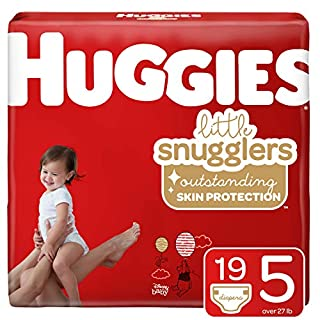Huggies Little Snugglers, Baby Diapers, Size 5, 19 Count
