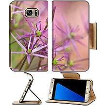 Luxlady Premium Samsung Galaxy S7 EDGE Flip Pu Leather Wallet Case IMAGE ID 25828628 purple allium