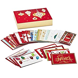 Hallmark Boxed Handmade Christmas Cards Assortment (Set of 24 Special Holiday Greeting Cards and Envelopes)