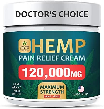 Pain Relief Cream - Maximum Strength, 120,000 MG - Fast Relief from Pain, Ache, Arthritis & Inflammation - Made & 3rd Party Lab Tested in The USA