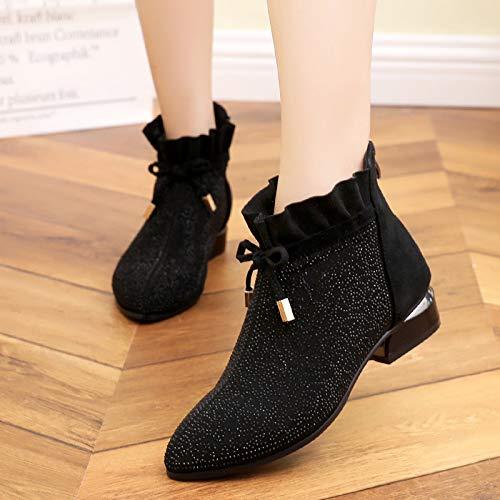 KPHY Damenschuhe Leder Schuhe Heel 3Cm Dick Dick Dick Herbst Ferse Ferse Sagte Mitte Schuhe Mode Wasser Läuft Einzelne Schuhe 2afcd7