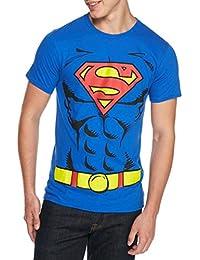 Superman Men's Blue Muscle Graphic Lightweight T Shirts DC Plus Sizes