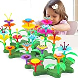 CENOVE Girls Toys for 3-6 Year Olds Girls and Toddlers, Flower Garden Building Toy Set 117PCS Arts and Crafts for Girls Birthday Gifts (117PCS)