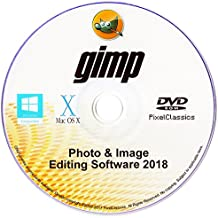 GIMP 2018 Photo Editor Premium Professional Image Editing Software for PC Windows 10 8.1 8 7 Vista XP, Mac OS X & Linux - Full Program & No Monthly Subscription!