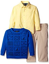 Nautica Baby Boys' 3 Piece Printed Sweater Set